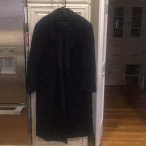 Men's Polo Wool Trench Coat, Navy Size 48L